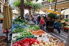 De markt van Mercadodos Lavradores in Funchal, Portugal Royalty-vrije Stock Foto's