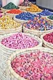 De markt van Morrocankruiden stock afbeelding