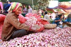 De markt van nyaung-U van handelactiviteiten, Myanmar. Royalty-vrije Stock Fotografie