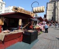 De markt van Pasen in de stad Pilsen. Stock Fotografie