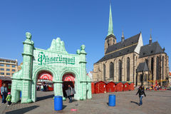 De markt van Pasen in de stad Pilsen. Royalty-vrije Stock Fotografie