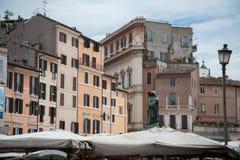 De markt van Rome, Campo DE Fiori stock foto's