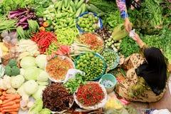 De markt van Siti khadijah Stock Foto's