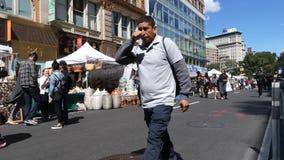 De Markt van de de Stadsstraat van New York stock footage