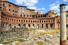 De Markt van Trajan Stock Foto