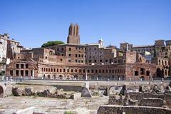De Markt van Trajan in Fori Imperiali in Rome, Italië Stock Afbeeldingen