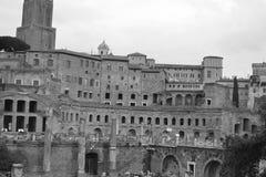 De Markt van Trajan (Mercatus Traiani), Rome Royalty-vrije Stock Fotografie