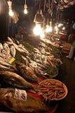 De markt van vissen in Stambul, Turkije Royalty-vrije Stock Afbeelding