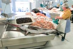De Markt van vissen, Vigo, Spanje. Stock Afbeeldingen