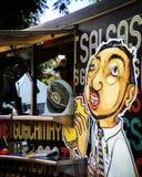 De markt van de voedselvrachtwagen in Mexico-City royalty-vrije stock afbeelding
