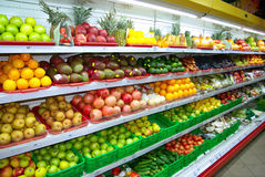 De markt van vruchten royalty-vrije stock afbeeldingen