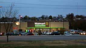 De markt van de Walmartbuurt, Joplin, MO Stock Afbeeldingen