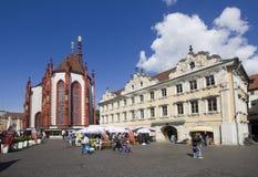 De Markt van Wurzburg, Duitsland Stock Afbeelding