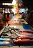 De markt van zeevruchten Stock Foto