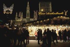 De Markt Wenen van Kerstmis Royalty-vrije Stock Afbeeldingen