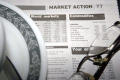 De marktactie van het aandeel Stock Foto's