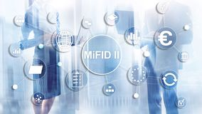 De Markten in Financiële Instrumentenrichtlijn MiFID II Beleggersbeschermingconcept stock afbeeldingen