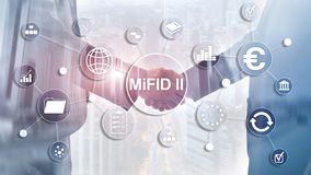 De Markten in Financi?le Instrumentenrichtlijn MiFID II Beleggersbeschermingconcept stock illustratie