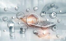 De Markten in Financi?le Instrumentenrichtlijn MiFID II Beleggersbeschermingconcept vector illustratie