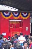 De markten stemden in met het Chinese Nieuwjaar in Semarang Stock Fotografie