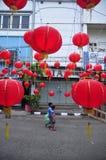 De markten stemden in met het Chinese Nieuwjaar in Semarang Royalty-vrije Stock Afbeelding