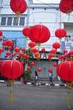 De markten stemden in met het Chinese Nieuwjaar in Semarang Stock Afbeelding