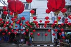 De markten stemden in met het Chinese Nieuwjaar in Semarang Stock Afbeeldingen