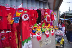 De markten stemden in met het Chinese Nieuwjaar in Semarang Royalty-vrije Stock Foto