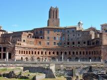 De Markten van Rome - van Trajan ` s stock afbeelding