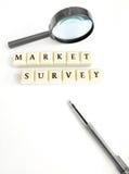 De marktonderzoek van het concept stock afbeelding