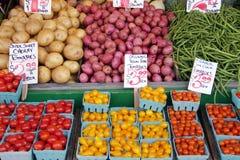 De marktopbrengst van de landbouwer Royalty-vrije Stock Afbeeldingen