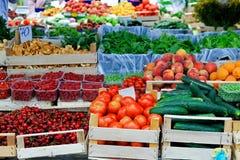 De marktplaats van landbouwers Stock Afbeelding