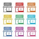 De Marktteken van de landbouwer, kleurenreeks royalty-vrije illustratie