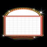 De markttentteken van het theater stock illustratie