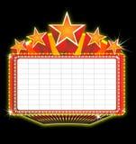 De markttentteken van het theater Royalty-vrije Stock Afbeelding