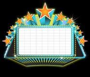 De markttentteken van het theater vector illustratie