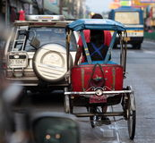 DE MARKTvervoer VAN AZIË THAILAND BANGKOK NONTHABURI Royalty-vrije Stock Foto's