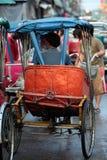 DE MARKTvervoer VAN AZIË THAILAND BANGKOK NONTHABURI Stock Afbeeldingen