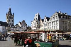 De Marktvierkant van Trier Stock Fotografie