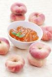 De marmelade van perziken Royalty-vrije Stock Foto