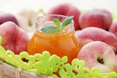 De marmelade van perziken Royalty-vrije Stock Foto's