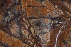 De marmeren achtergrond, natuursteen wordt van heldere kleur met vertakte aders genoemd Bruine Bidasar stock foto's