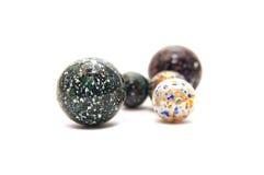 De marmeren ballen van het glas Stock Afbeeldingen