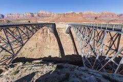 De marmeren Canion overbrugt dichtbij Pagina Arizona Stock Afbeelding