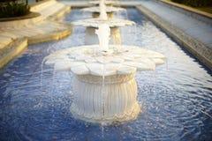 De marmeren gevormde lotusbloem van de waterfontein Royalty-vrije Stock Foto