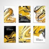 De marmeren gouden achtergrond van de textuurkaart Royalty-vrije Stock Fotografie