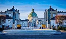 De marmeren Kerk in Kopenhagen, Denemarken royalty-vrije stock afbeelding