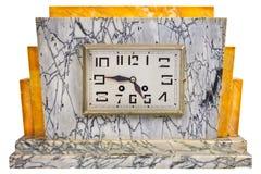De marmeren klok van het art decoontwerp van de vroege 20ste eeuw Stock Afbeeldingen