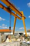 De marmeren kraanindustrie Stock Afbeeldingen