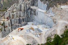 De marmeren steengroeve van Carrara, Toscanië Royalty-vrije Stock Afbeelding